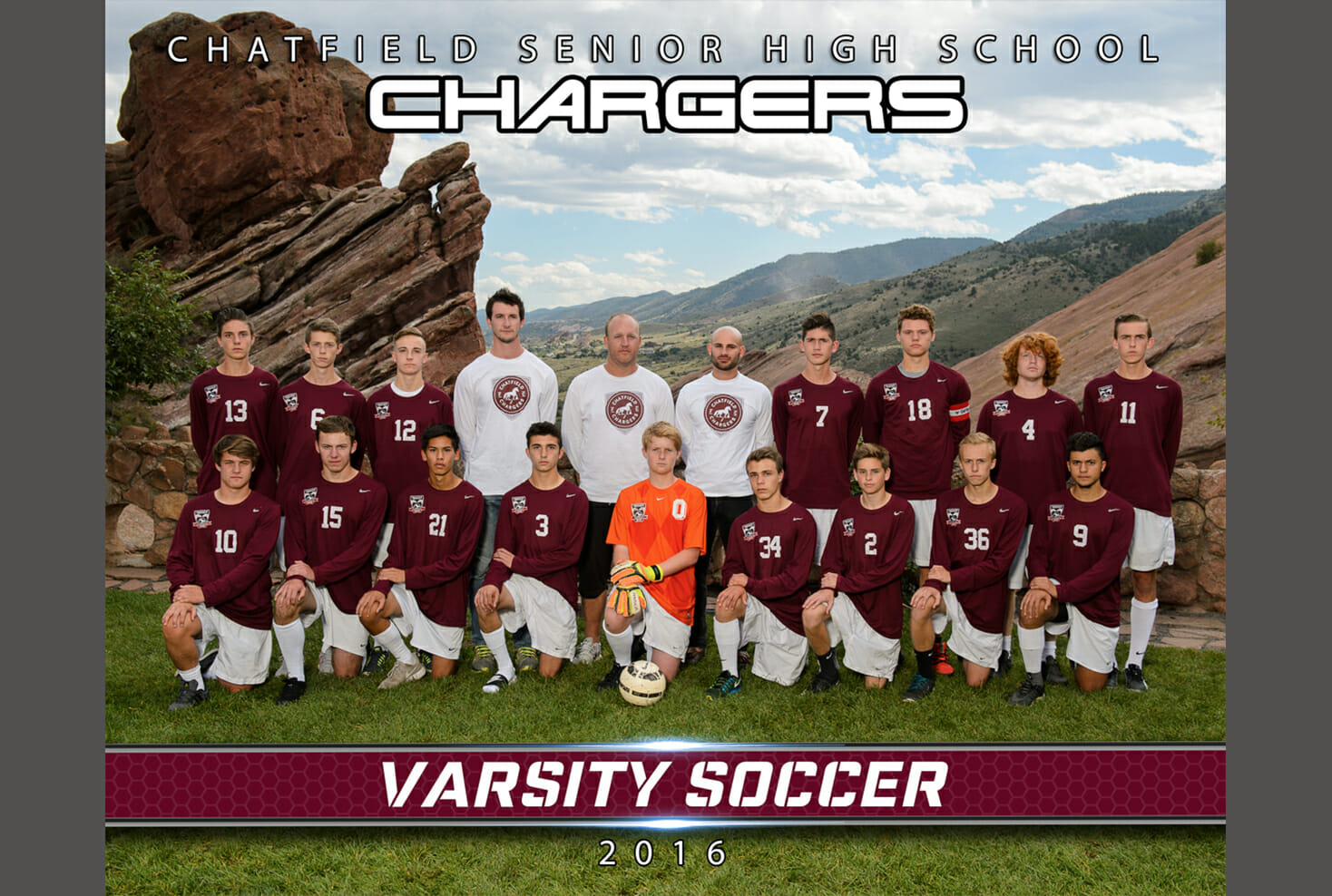 Chatfield High School varsity soccer team photo