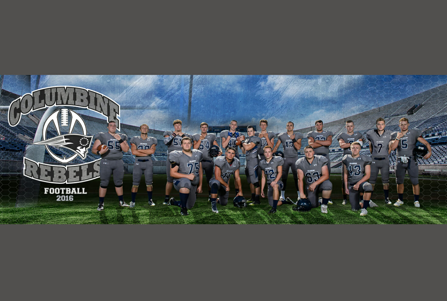 Columbine Football senior banner