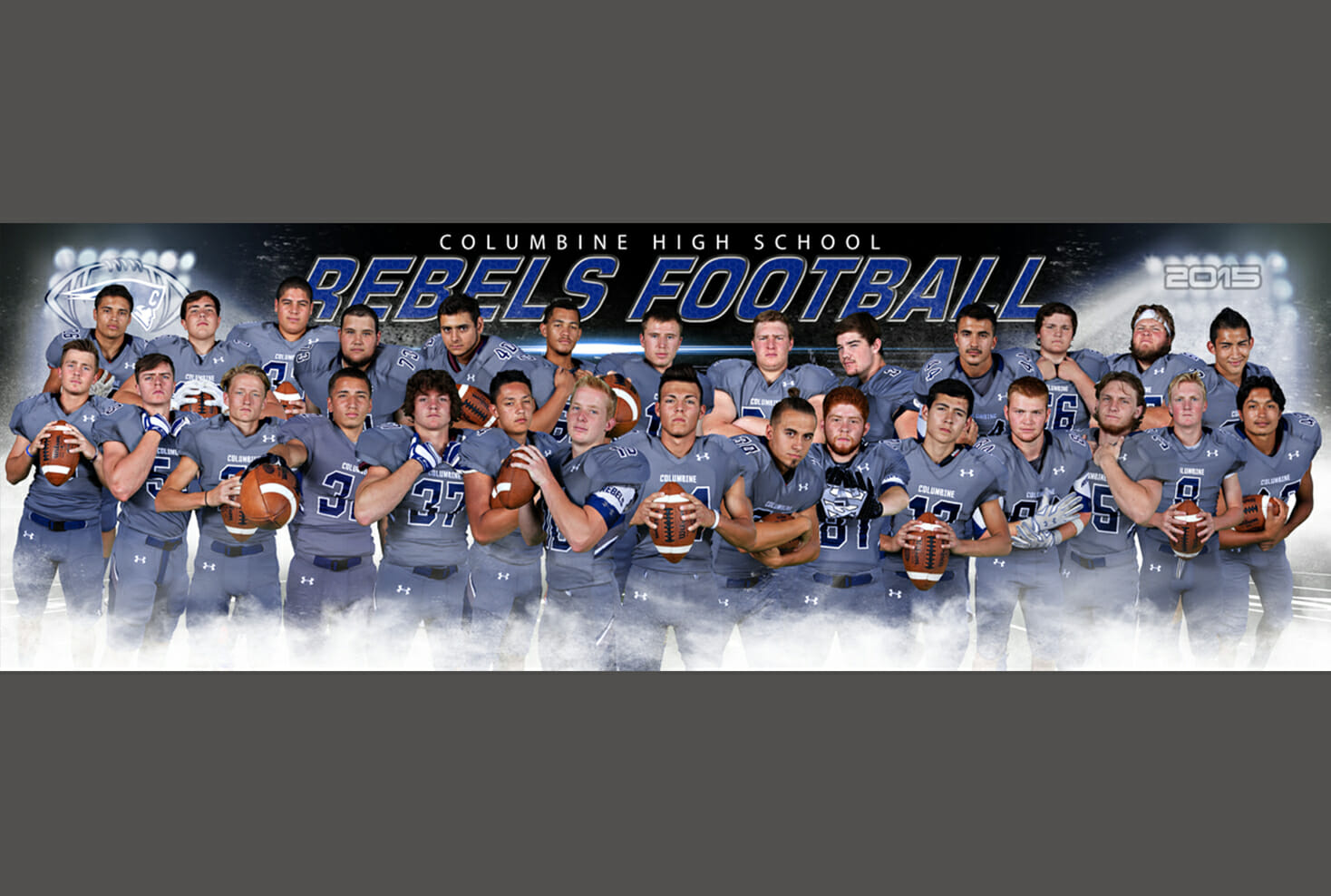 Columbine High School football senior banner