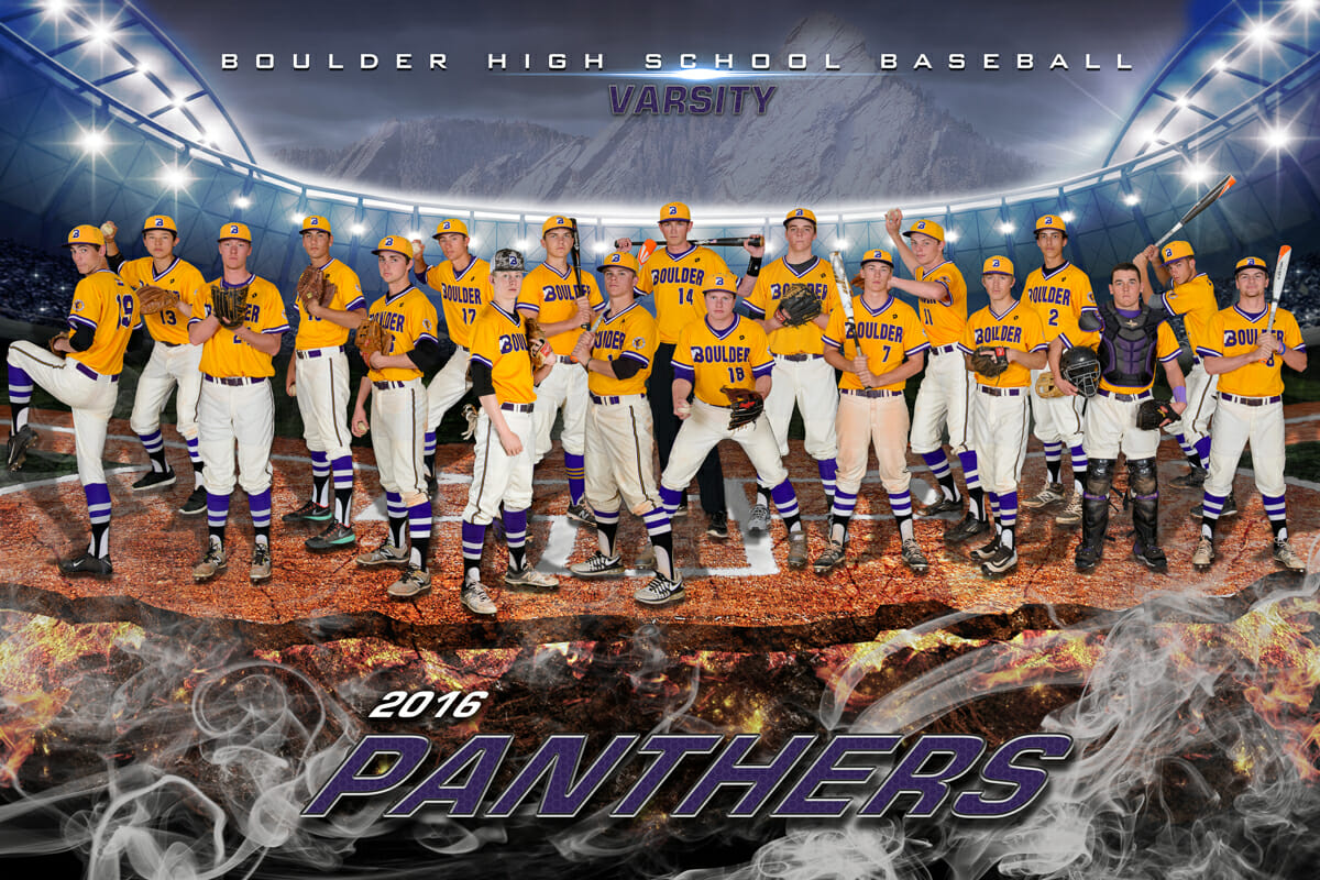 Boulder High School Baseball Banner