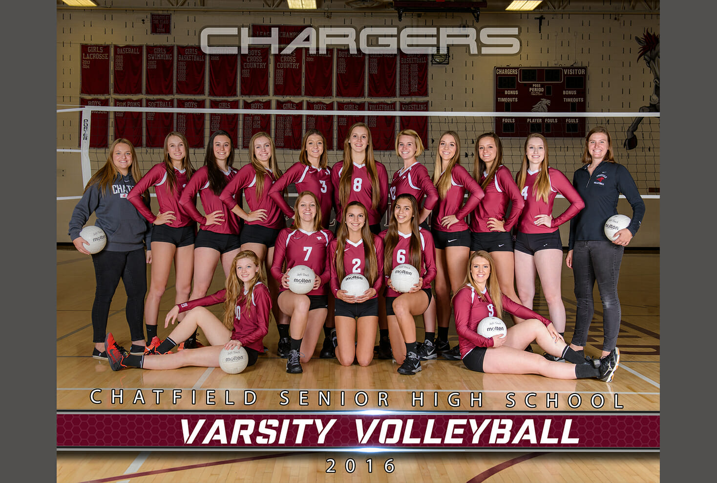 Chatfield High School Volleyball Team Photo