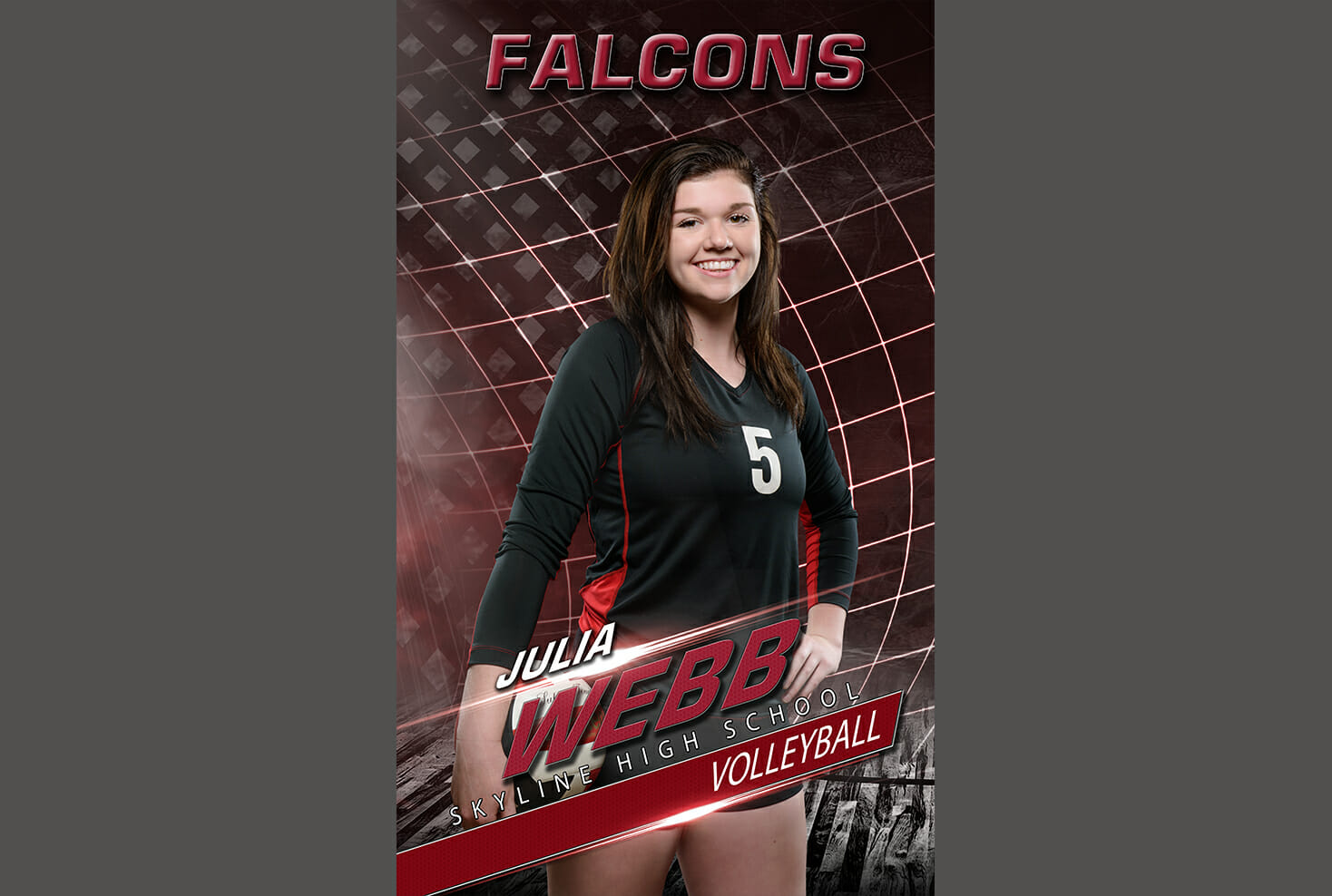 Skyline High School Volleyball senior banner