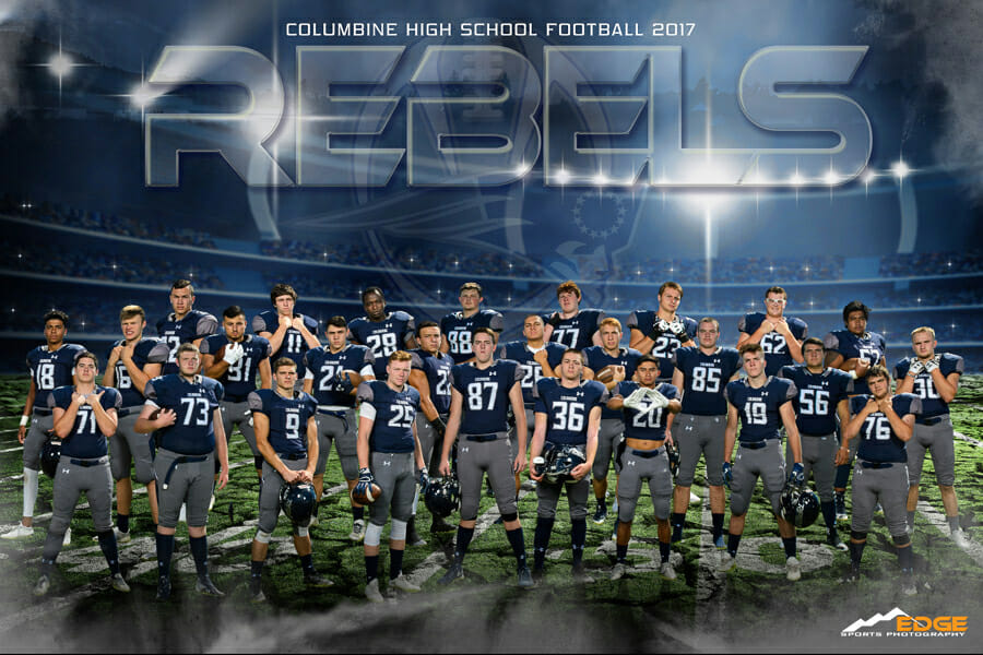 Columbine high School Football team banner