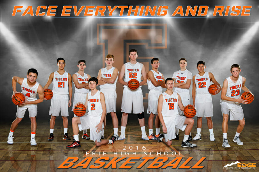 Erie High School Basketball Team Banner