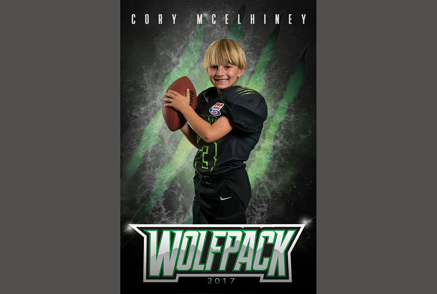 Parker Wolfpack football individual photo