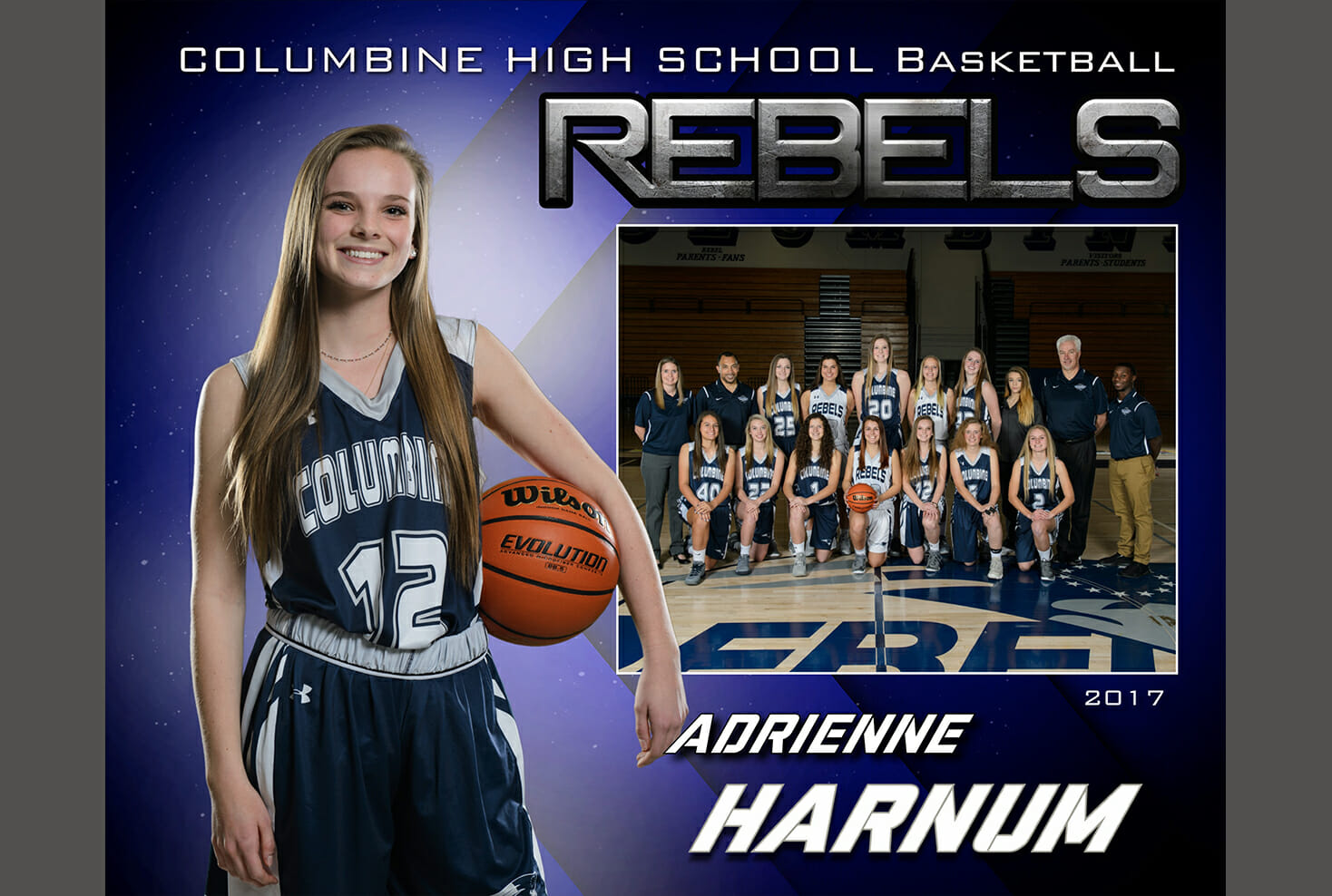 Columbine High school girls basketball memory mate