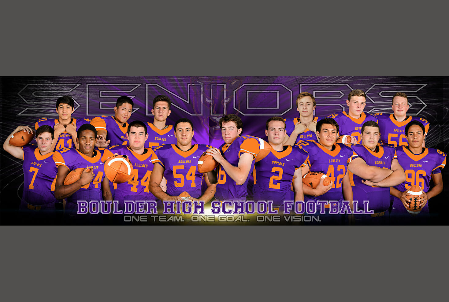 Boulder high school football senior banner