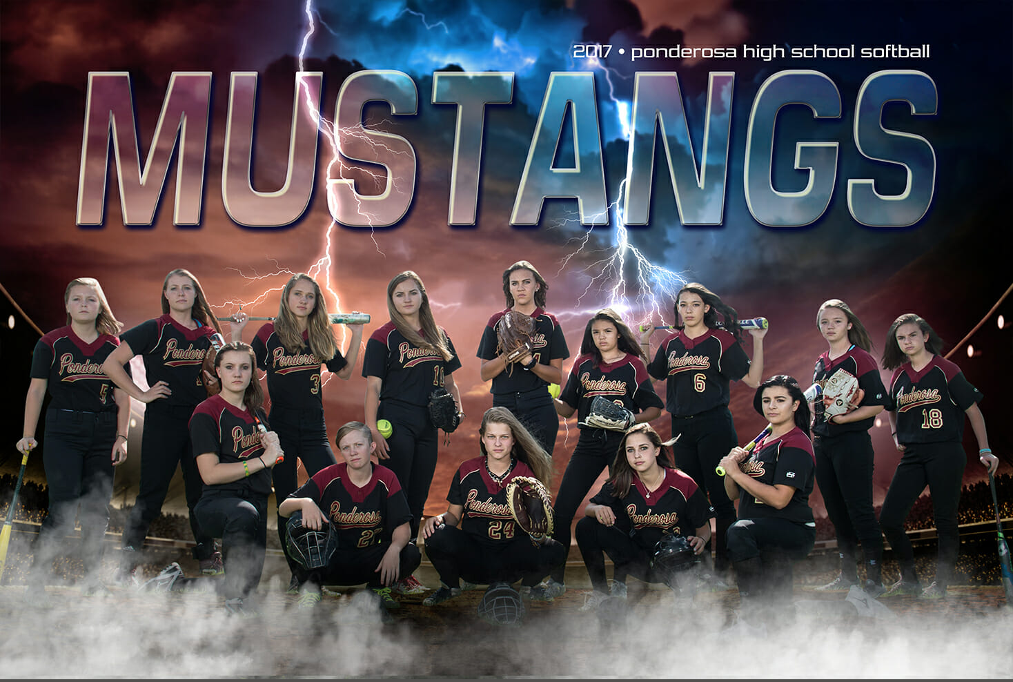 Ponderosa High School Softball team poster