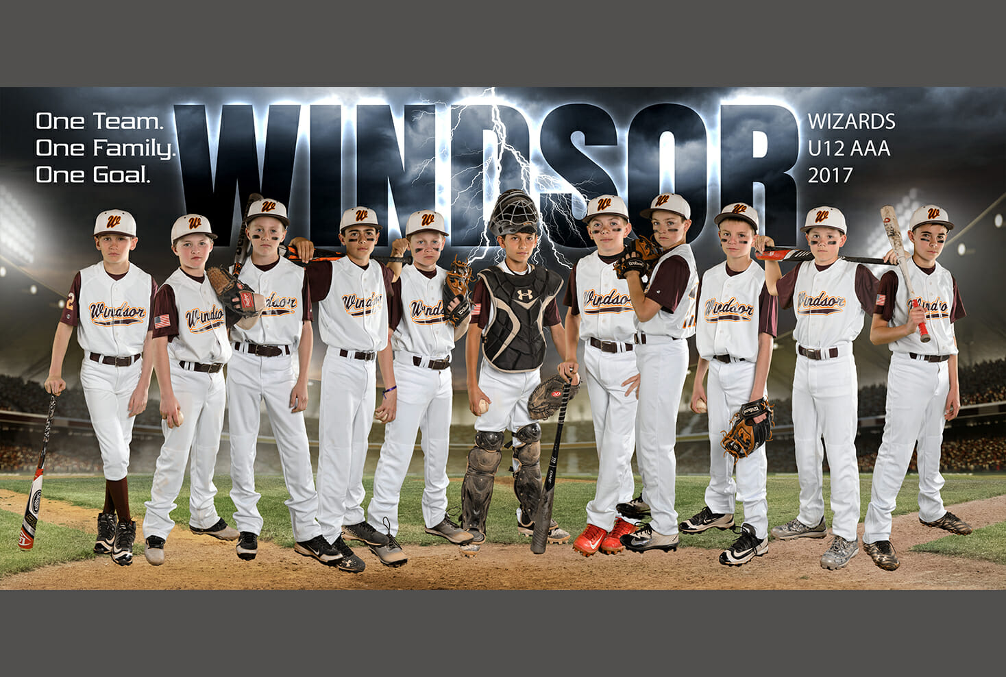 Windsor Wizards baseball banner