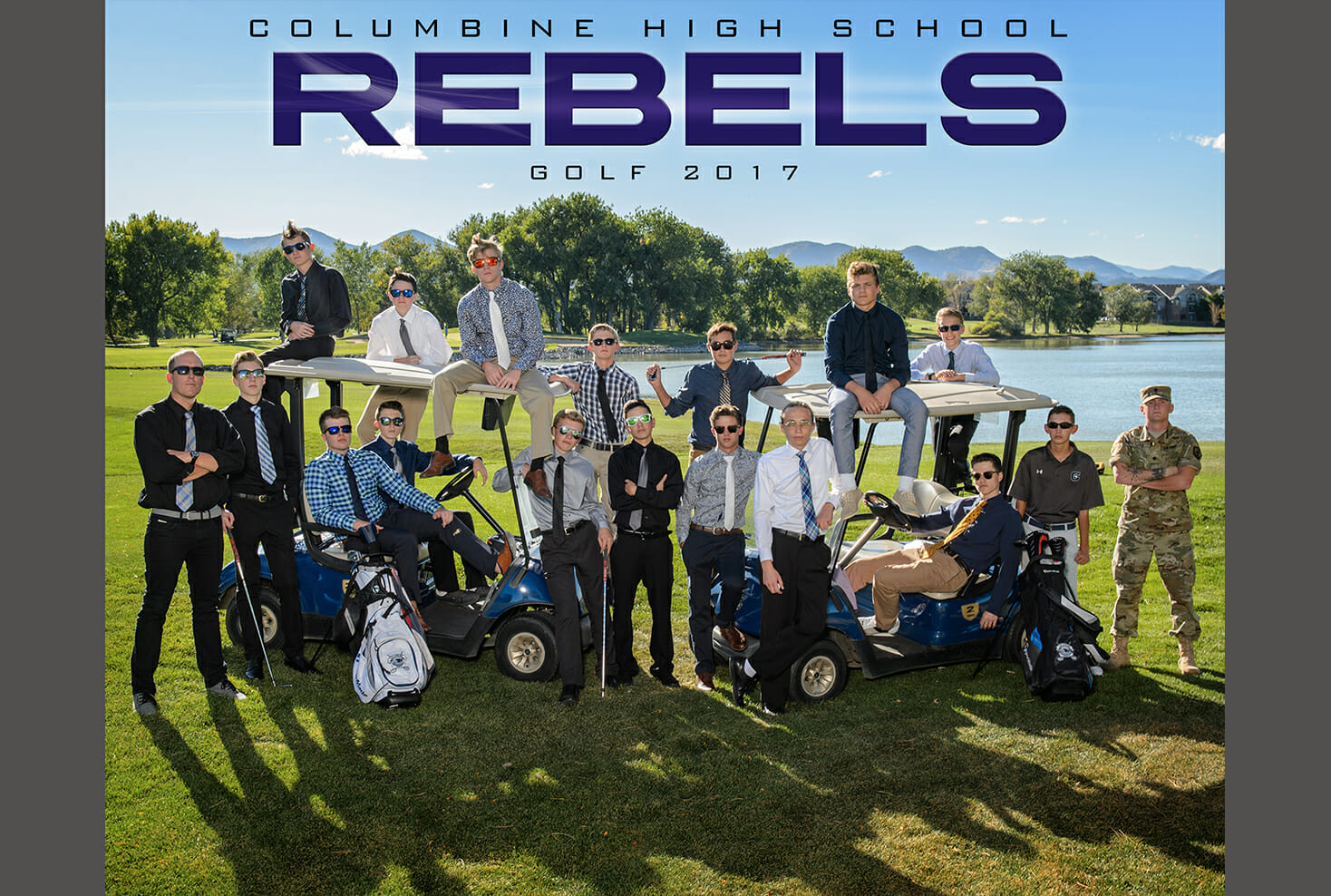 Columbine High School Golf Team Photo