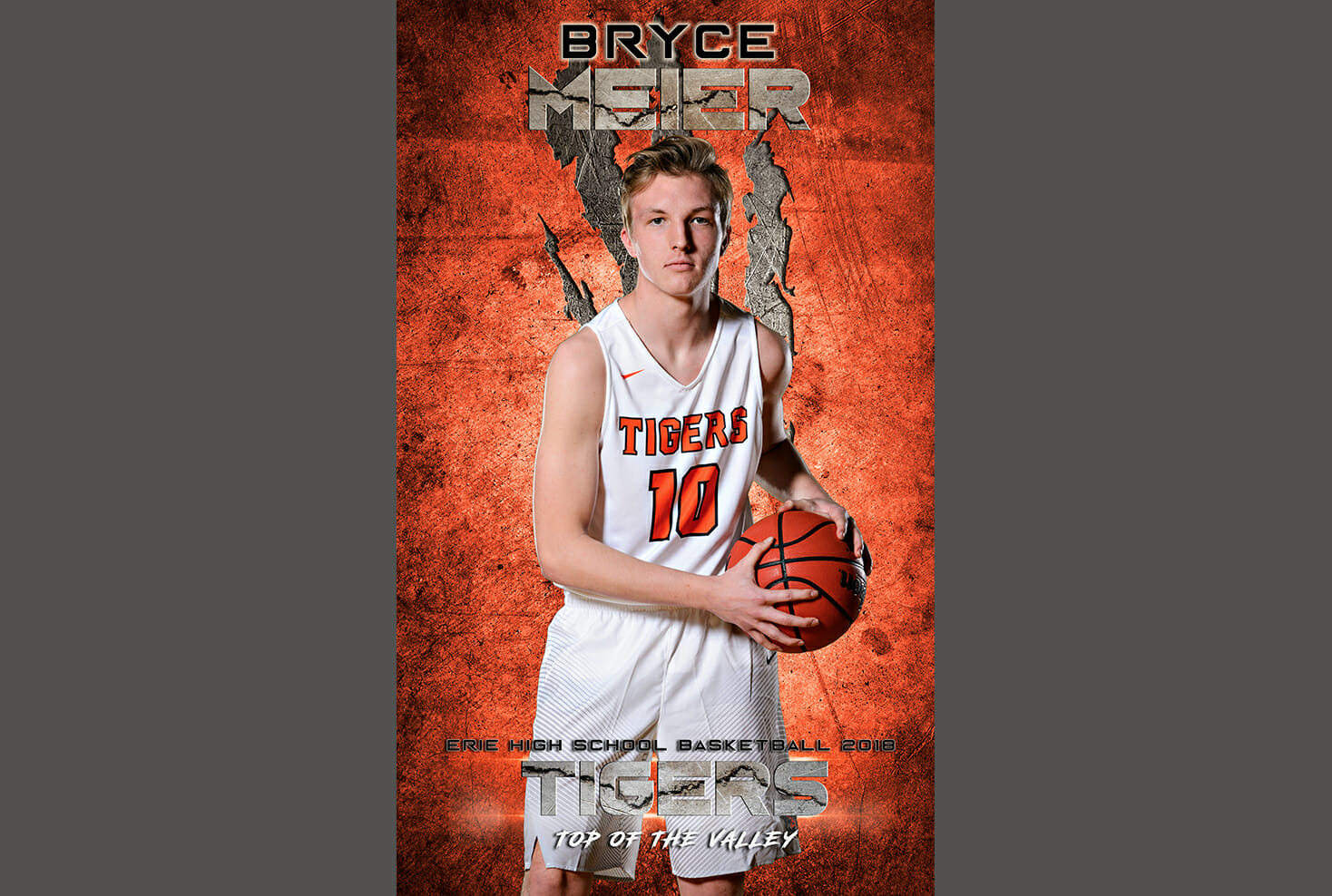 Erie High School Basketball senior banner