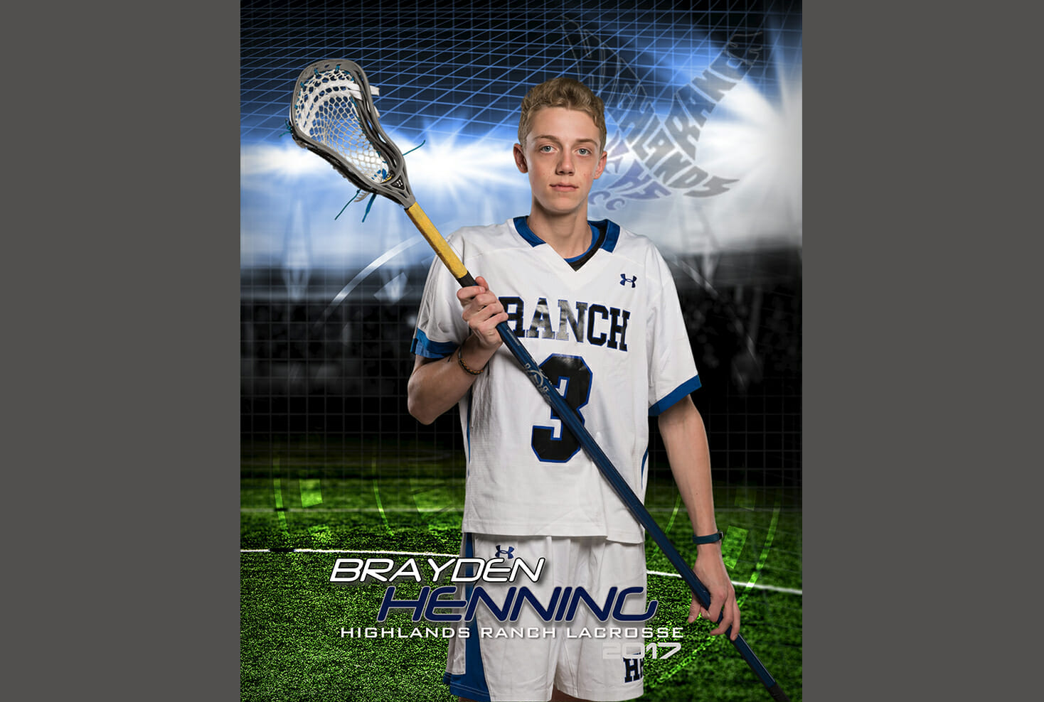 Highlands Ranch High school lacrosse sports photo
